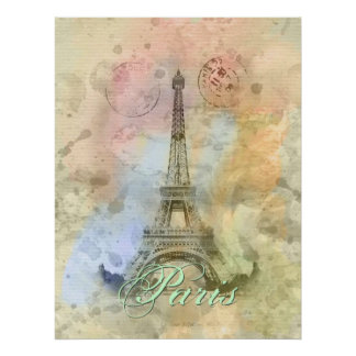 Torre Eiffel femenina de moda hermosa Francia del  Posters