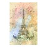 Torre Eiffel femenina de moda hermosa Francia del  Papelería De Diseño