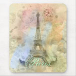 Torre Eiffel femenina de moda hermosa Francia del  Tapetes De Raton