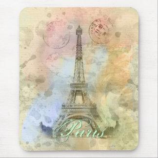 Torre Eiffel femenina de moda hermosa Francia del Mousepads