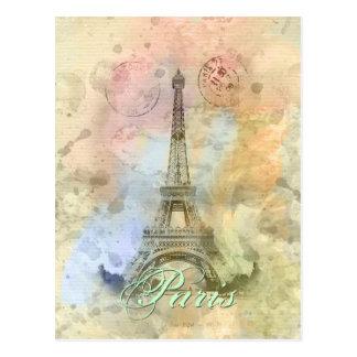 Torre Eiffel femenina de moda hermosa Francia del Postal