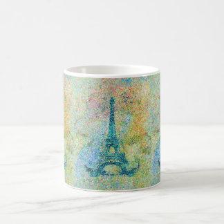 Torre Eiffel femenina de moda hermosa Francia del Taza Básica Blanca