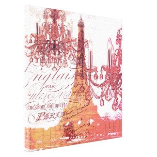 torre Eiffel femenina moderna de París de la Impresiones En Lienzo Estiradas