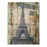 Torre Eiffel francesa de madera de París del país Tarjetas Postales