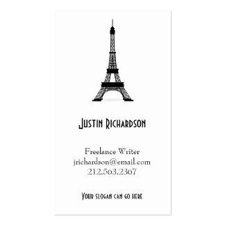 Torre Eiffel francesa del negro del estilo del Tarjetas De Visita