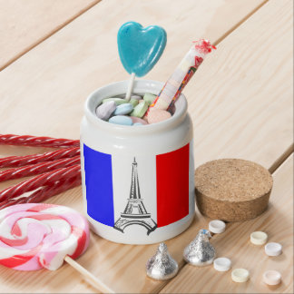 Torre Eiffel Francia Jarras Para Caramelos