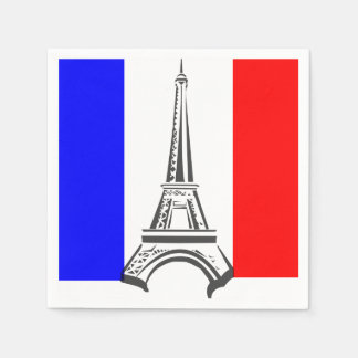 Torre Eiffel Francia Servilleta Desechable