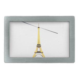 Torre Eiffel Hebilla De Cinturón Rectangular