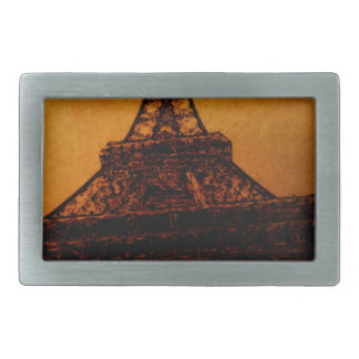 torre Eiffel Hebillas Cinturón Rectangulares