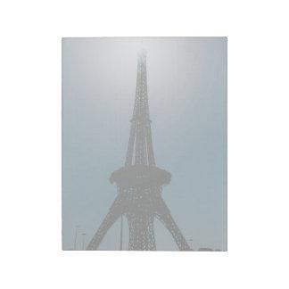 Torre Eiffel, jardín del milagro de Dubai Bloc De Notas