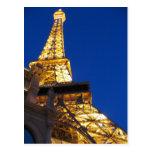 Torre Eiffel, Las Vegas, Nevada Postales