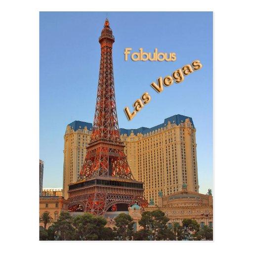 Torre Eiffel Las Vegas Tarjeta Postal