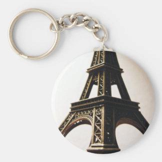 Torre Eiffel Llavero Redondo Tipo Pin