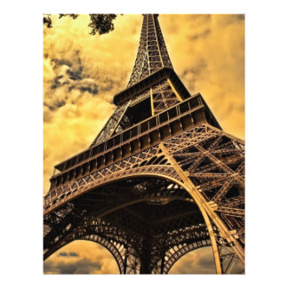 Torre Eiffel Membrete A Diseño