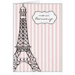 Torre Eiffel Merci Beaucoup Tarjetón