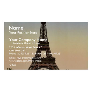 Torre Eiffel, mirada a la vista hacia el Trocade Tarjeta De Negocio