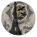 torre Eiffel moderna de Halloween del francés del Reloj