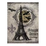 torre Eiffel moderna de Halloween del francés del Tarjetas Postales