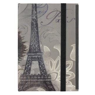 torre Eiffel moderna de París del damasco de la fl iPad Mini Protectores