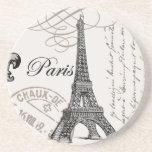 torre Eiffel moderna del francés del vintage Posavasos Diseño