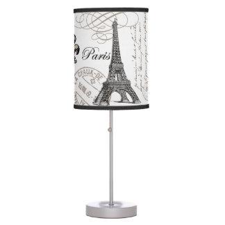 torre Eiffel moderna del vintage Lámpara De Escritorio