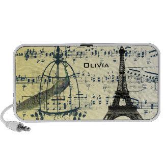 Torre Eiffel musical de Nouveau del arte del pavo iPod Altavoces