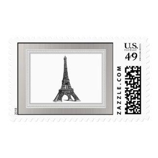 Torre Eiffel negra de 20 sellos
