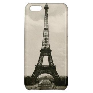 Torre Eiffel negra y blanca del vintage