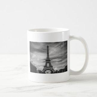 Torre Eiffel negra y blanca París Francia Taza
