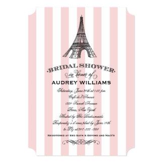 Torre Eiffel nupcial de la invitación el   París
