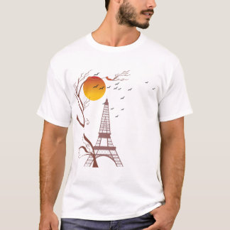 Torre Eiffel, otoño Playera