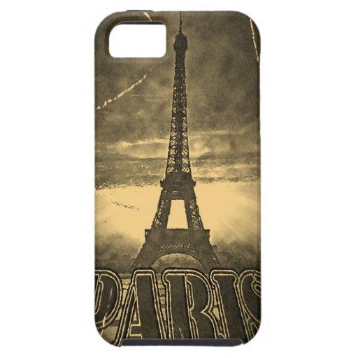 Torre Eiffel París #2 - caso del vintage del iPhon iPhone 5 Case-Mate Protectores