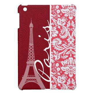 Torre Eiffel, París, damasco rojo