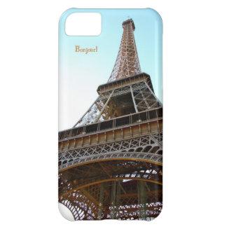 Torre Eiffel París de Bonjour del caso de Iphone 5