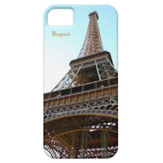 Torre Eiffel París de Bonjour del caso de Iphone 5 iPhone 5 Case-Mate Cárcasas
