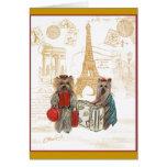 Torre Eiffel París de Yorkie Tarjeta De Felicitación