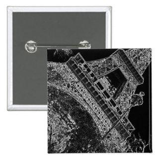 Torre Eiffel París del arte pop Pin Cuadrada 5 Cm