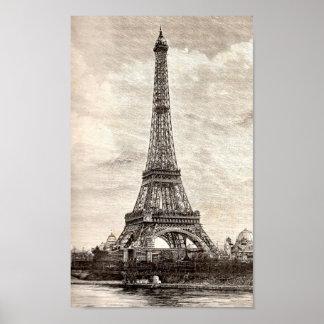 Torre Eiffel, París Francia 1889 Poster