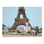 Torre Eiffel, París Francia 1889 Tarjetas Postales