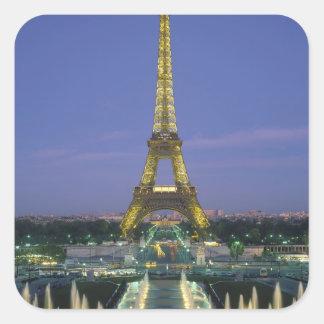 Torre Eiffel París Francia 2 Calcomanía Cuadradas Personalizada