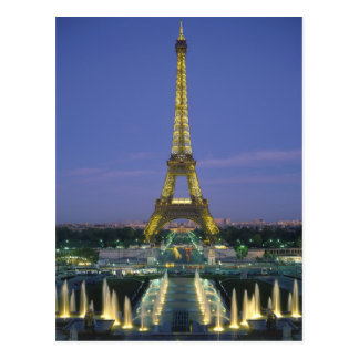 Torre Eiffel, París, Francia 2 Tarjeta Postal