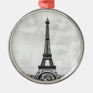 Torre Eiffel París Francia Adorno Navideño Redondo De Metal