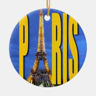 Torre Eiffel París Francia Adornos De Navidad