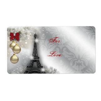 Torre Eiffel París Francia de la etiqueta de direc Etiquetas De Envío