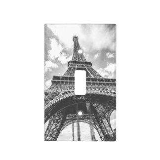 Torre Eiffel, París, Francia en blanco y negro Tapa Para Interruptor