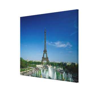 Torre Eiffel, París, Francia Impresión En Lienzo Estirada
