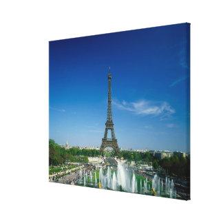 Torre Eiffel, París, Francia Impresiones En Lona