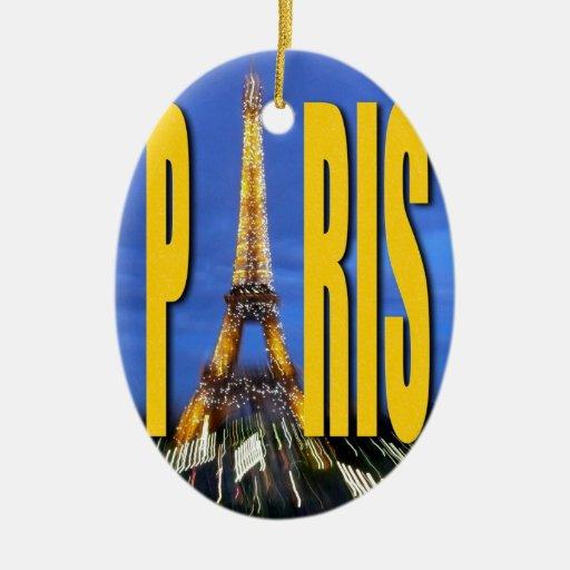 Torre Eiffel París Francia Ornamentos De Navidad