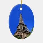 Torre Eiffel, París, Francia Ornamentos De Navidad