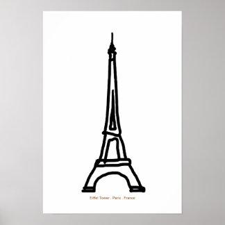 Torre Eiffel París Francia para las paredes Posters